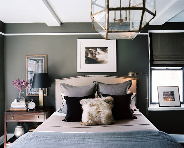 Chic gray bedroom