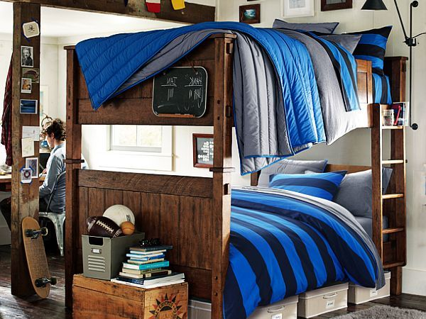 Classic bunk bed design with stairs