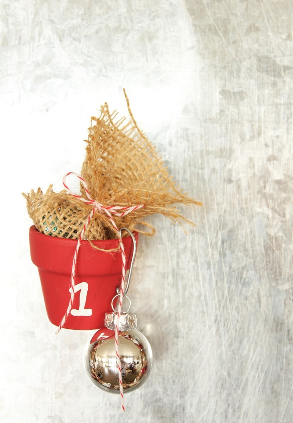 Clay pot advent calendar DIY