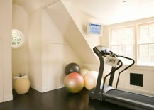Clear out the attic to create space for the compact home gym