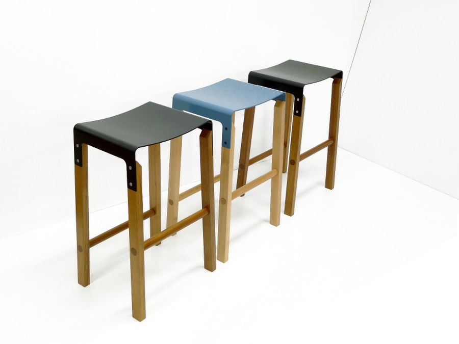 Close up of the modern kitchen stools
