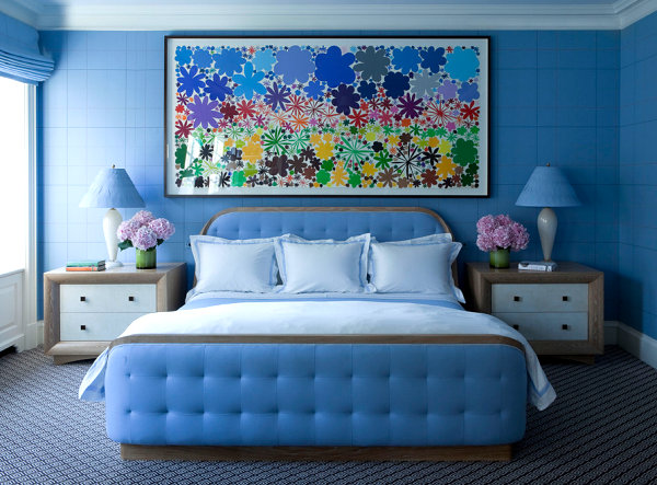 Colorful New York bedroom