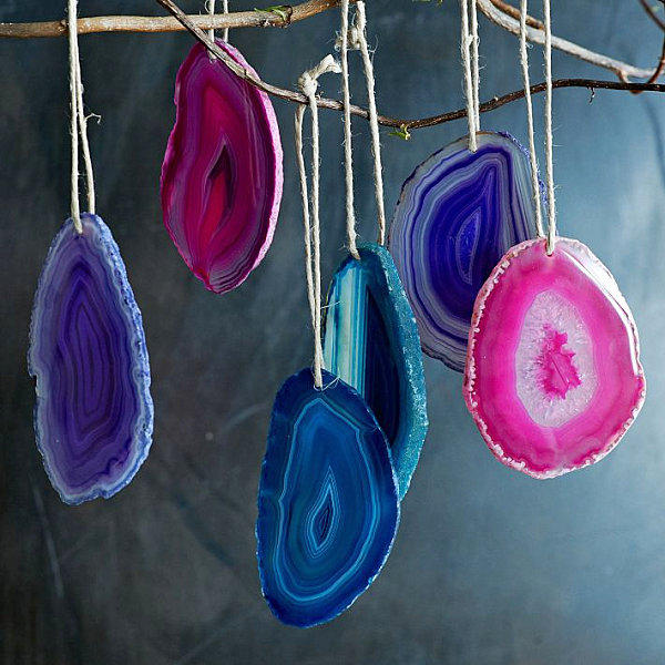Colorful agate ornaments