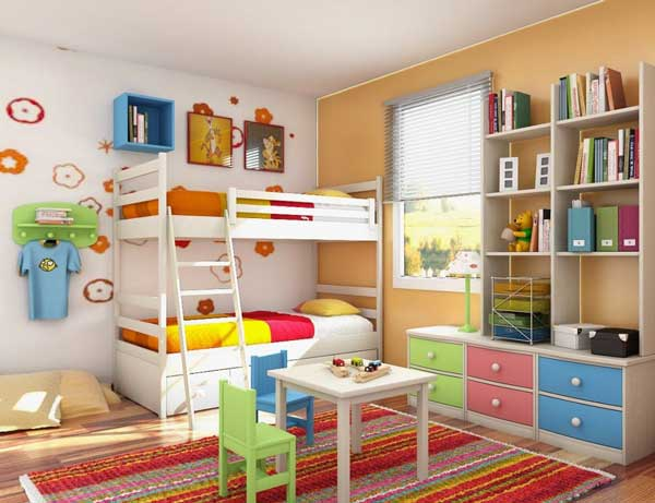 Colorful kids' bedroom idea