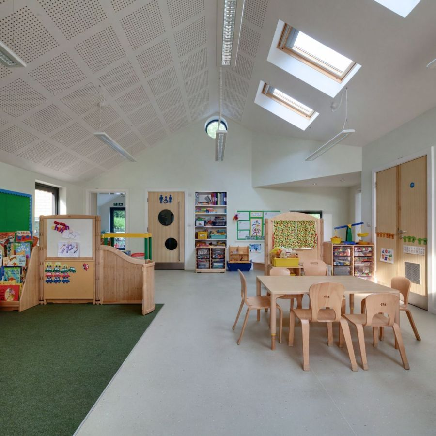 Colurful and relaxed interior of the St Mary's Infant School