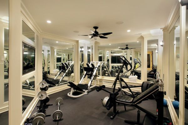 Compact and stylish gym surrounds you with mirrors
