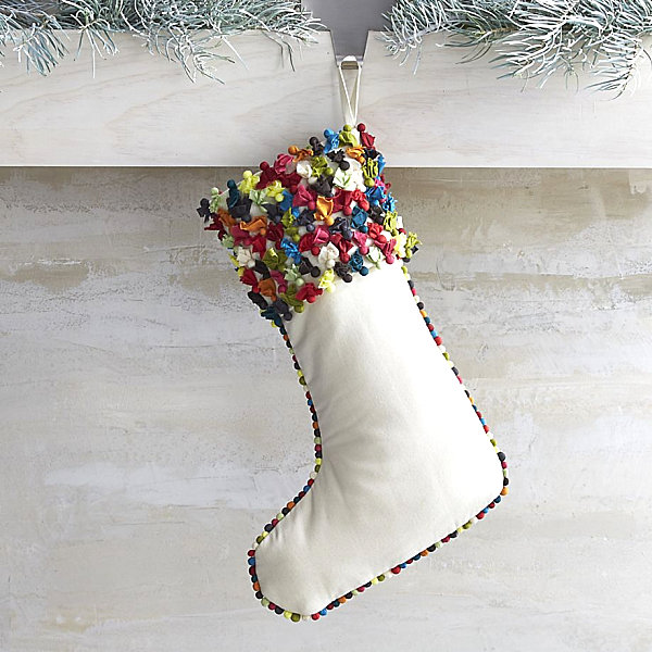 Confetti style stocking Stocking Decoration Ideas for a Festive Holiday