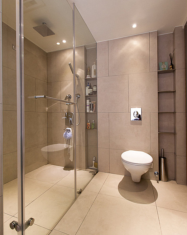 view in gallery bathroom with