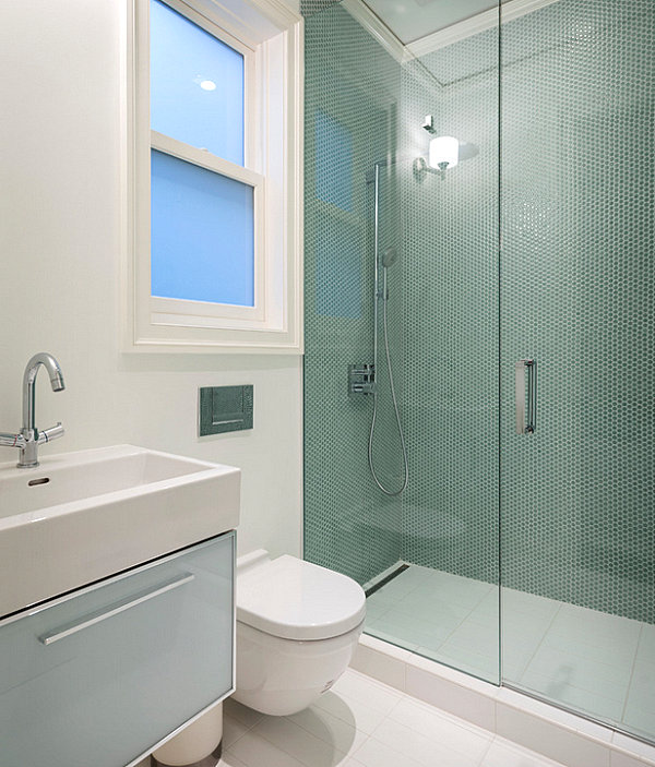 Contemporary design in a small bathroom