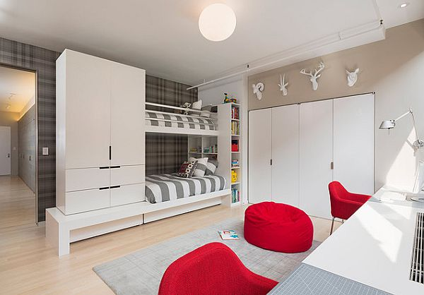 View in gallery Cool bunk bed comes with storage units