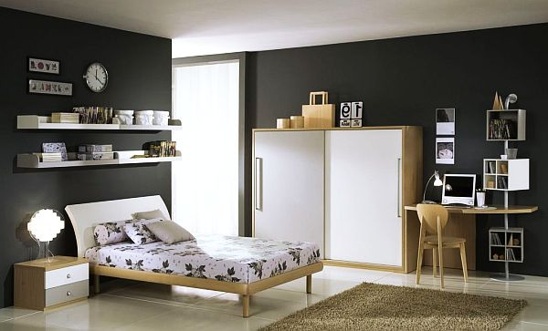 View In Gallery Cool Contemporary Boysu0027 Bedroom In Grey And White