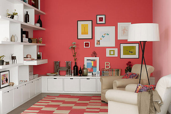 view in gallery coral in a modern living space how colors and mood affect the interior design of your - Bedroom Paint Colors And Moods