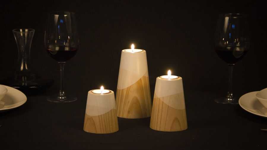 Create a romantic setting with candle holders