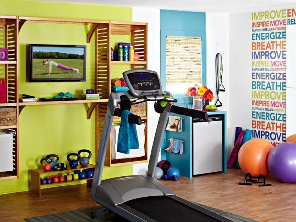 ... Decorating Idea For The Home Gym. By Victoria Martoccia Custom  Construction. View In Gallery Custom Wall Decals Are Easy And Fun To  Incorporate
