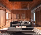 Customized interiors of Floating House for H2ORIZON