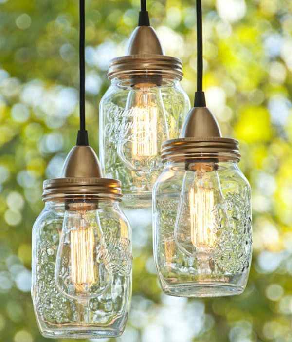 DIY Jar Lamp Idea