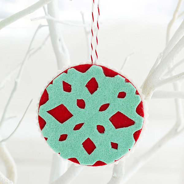 View in gallery DIY felt snowflake ornament