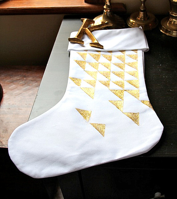 DIY triangle stocking