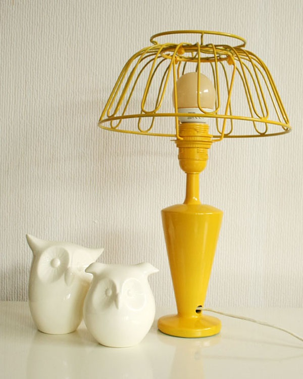DIY yellow lamp project