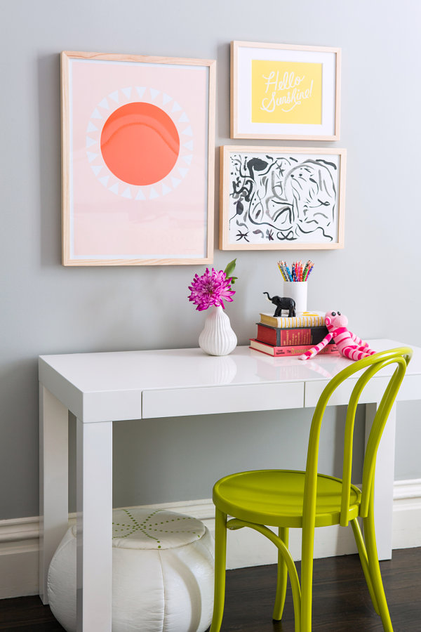Desk area in a chic girls bedroom 12 Cool Room Ideas For Girls