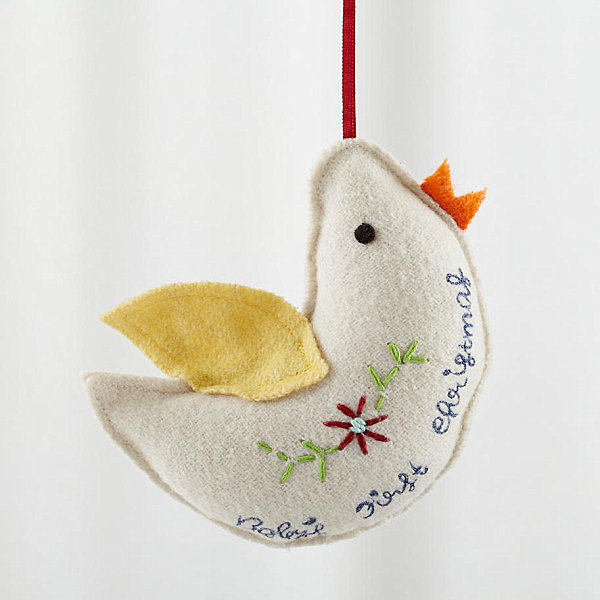Dove ornament for Baby's first Christmas
