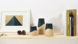ETNA Mini wood candle holders
