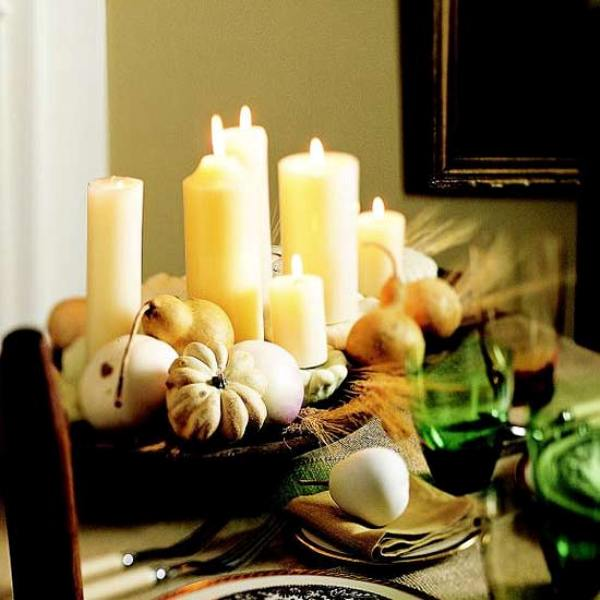 Elegant and exquisite centerpiece for the Thanksgiving table