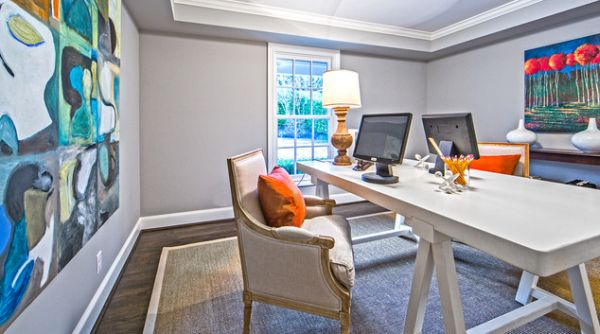 home office artwork. View In Gallery Elegant Home Office With Colorful Art Work On The Walls Artwork N