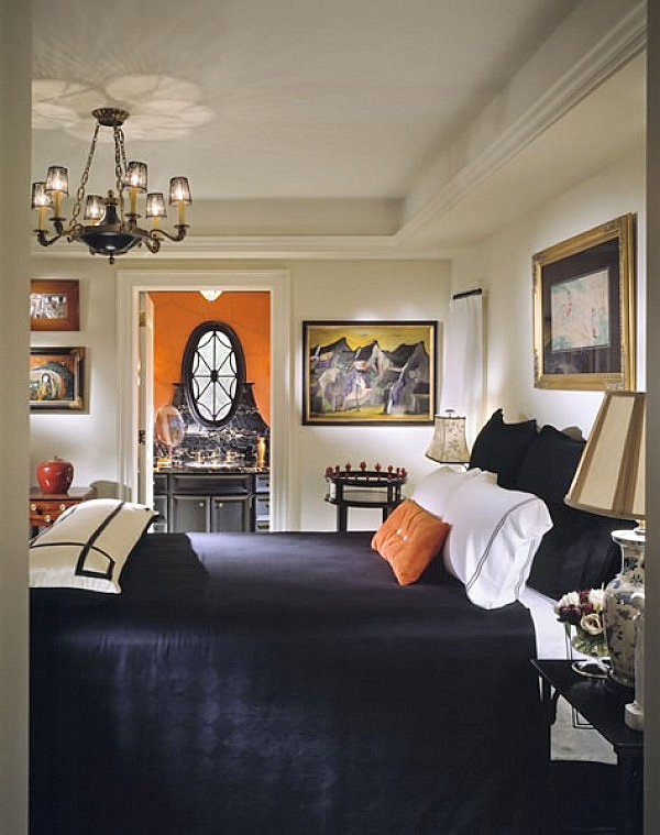 Elegant townhome bedroom