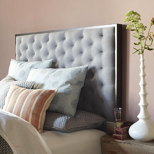 Elegant tufted headboard