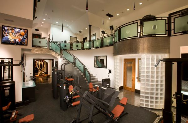 Expansive custom designed home gym