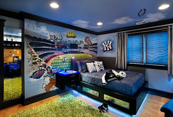 Fabulous boys' bedroom is all about the brilliant paint job!