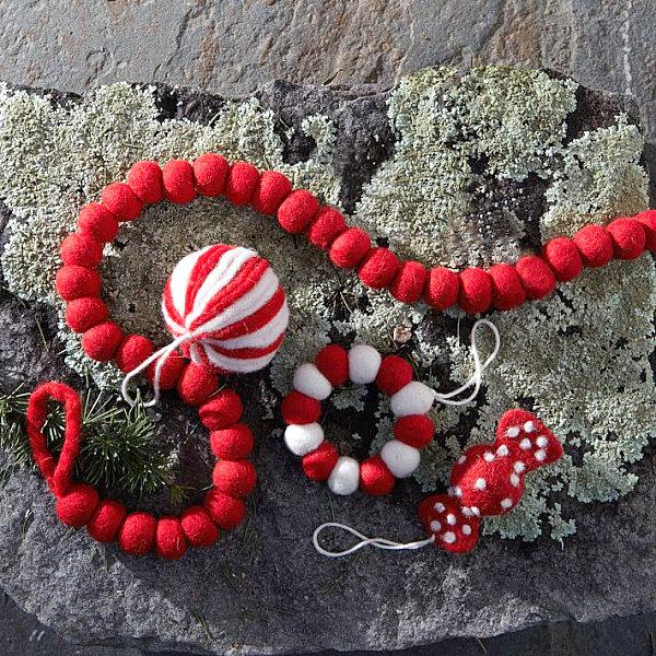 Felt candy ornaments