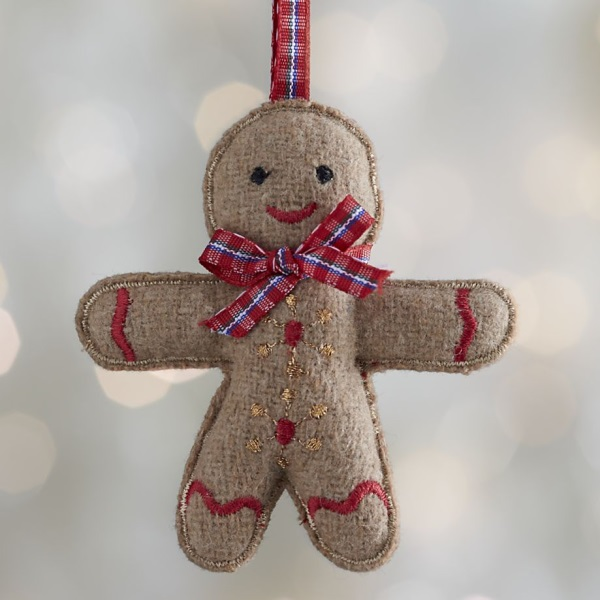 Felt gingerman ornament