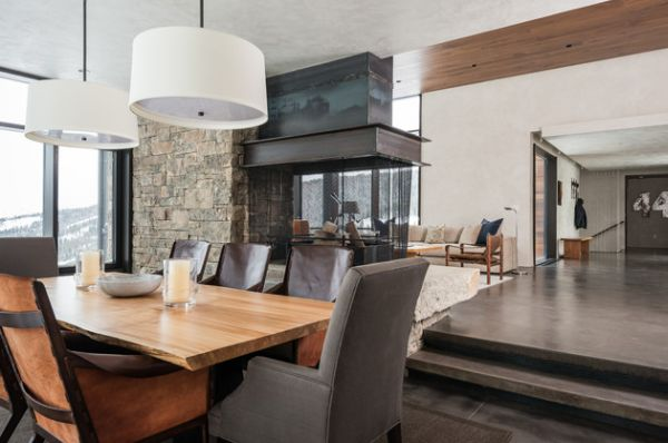 Fireplace Can Be Enjoyed From The Living Room As Well