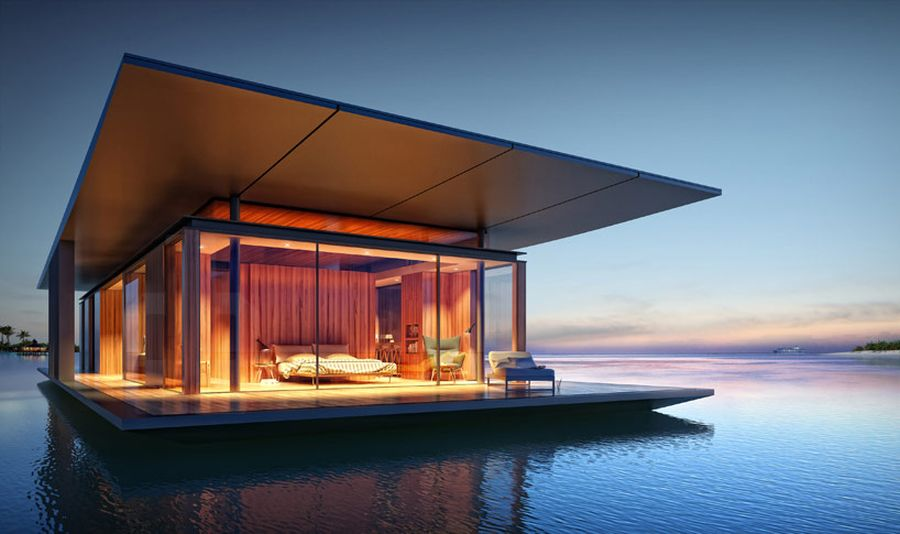 Floating House by Dymitr Malcew Sustainable Floating House Concept Delivers Magic on Water