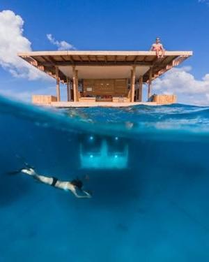 Floating Underwater hotel in Pemba, Tanzania