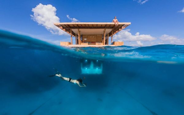 Floating Underwater hotel in Pemba, Tanzania