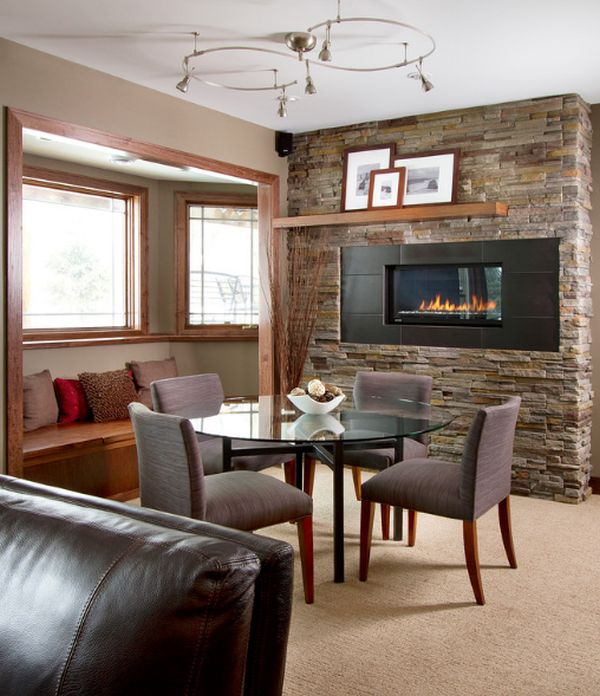 Innovative Living Room Fireplace Ideas Painting