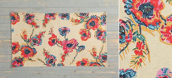 Floral ikat rug