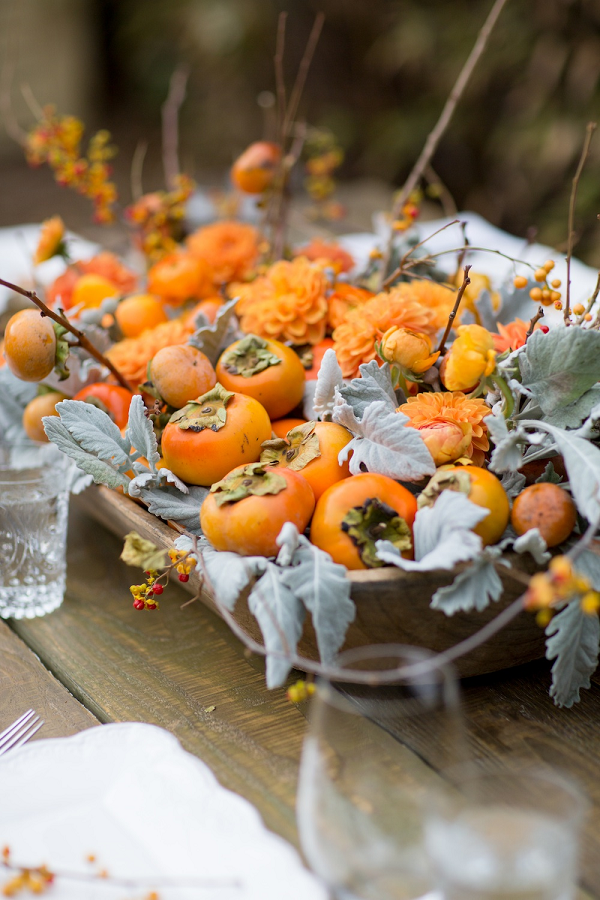Flower and tomato centerpiece