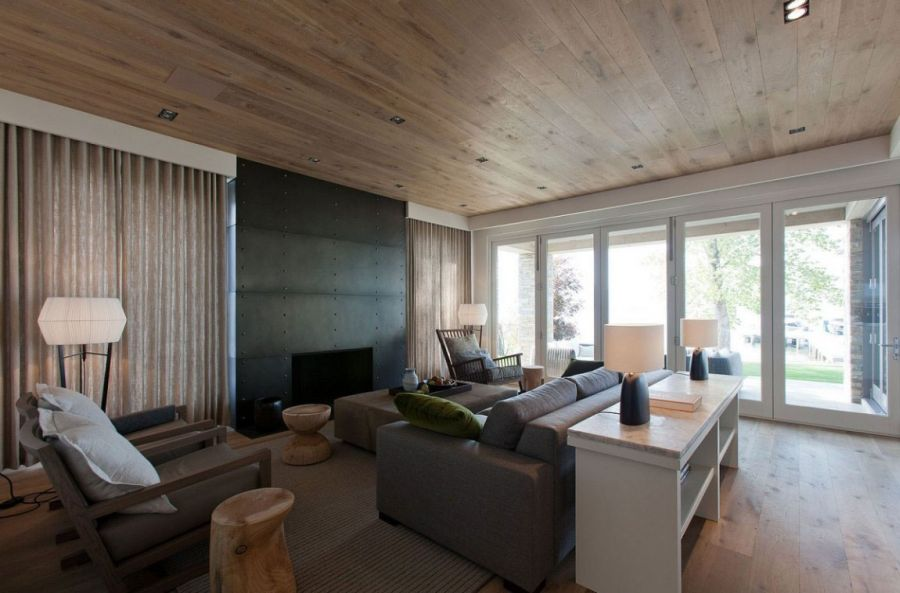 French oak on the ceiling and floors
