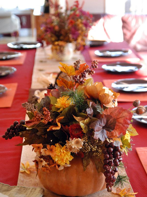 Thanksgiving Decor Ideas Part - 47: Thanksgiving Table Decorations In Natural White View In Gallery Fresh Fall  Produce Brings Together A Multitude Of Colors
