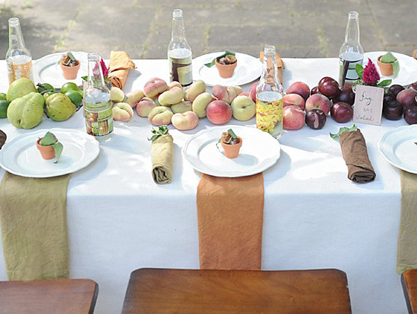 Fruit-lined table