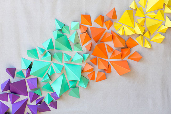 Geometric paper backdrop Host a Stylish Friendsgiving Feast