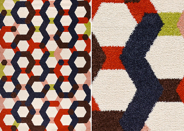 Geometric rug from IKEA