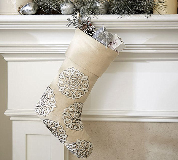 Gold and silver stocking
