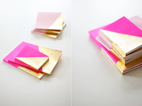 Gold-dipped notebooks