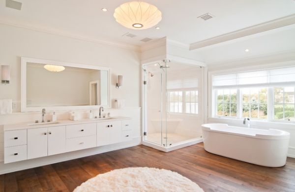 Gorgeous bathroom with an all-white look