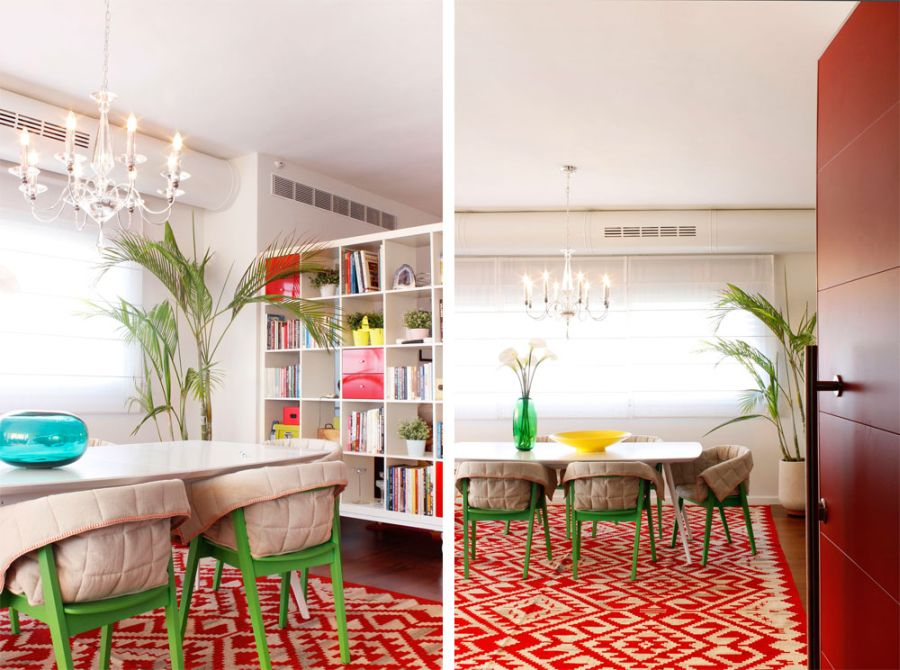 Gorgeous decor and pattern rugs bing the penthouse alive